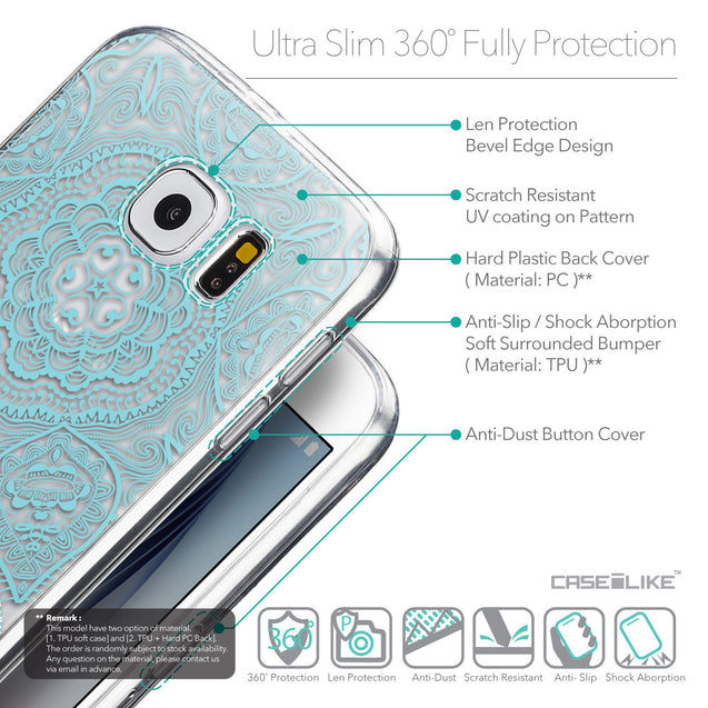 Details in English - CASEiLIKE Samsung Galaxy S6 back cover Mandala Art 2306