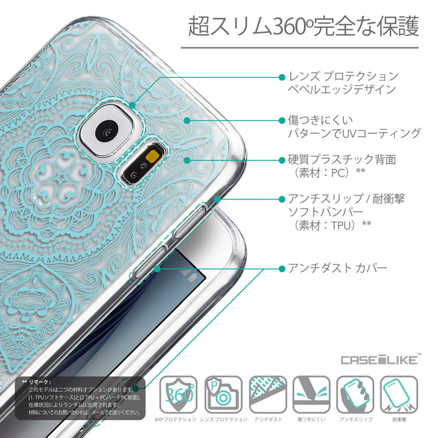 Details in Japanese - CASEiLIKE Samsung Galaxy S6 back cover Mandala Art 2306