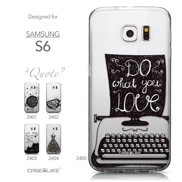 Collection - CASEiLIKE Samsung Galaxy S6 back cover Quote 2400