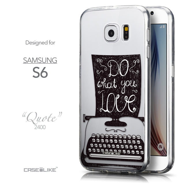 Front & Side View - CASEiLIKE Samsung Galaxy S6 back cover Quote 2400