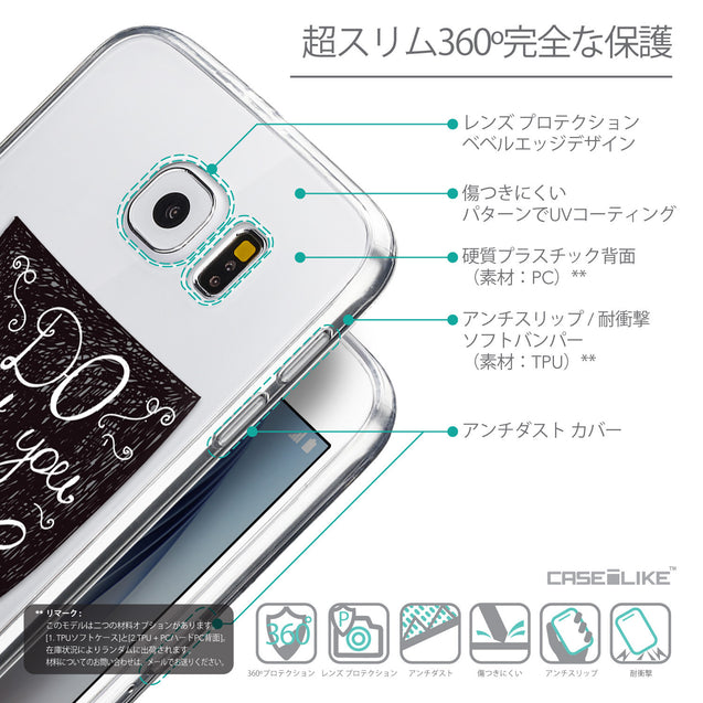 Details in Japanese - CASEiLIKE Samsung Galaxy S6 back cover Quote 2400