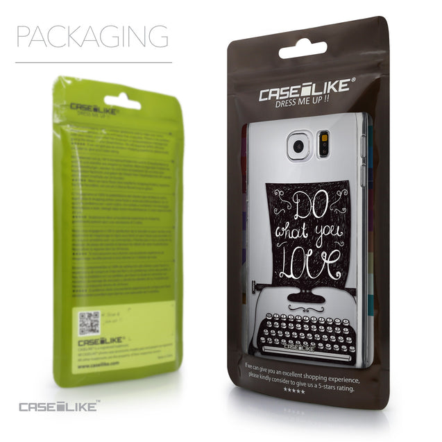 Packaging - CASEiLIKE Samsung Galaxy S6 back cover Quote 2400