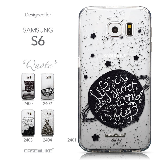 Collection - CASEiLIKE Samsung Galaxy S6 back cover Quote 2401