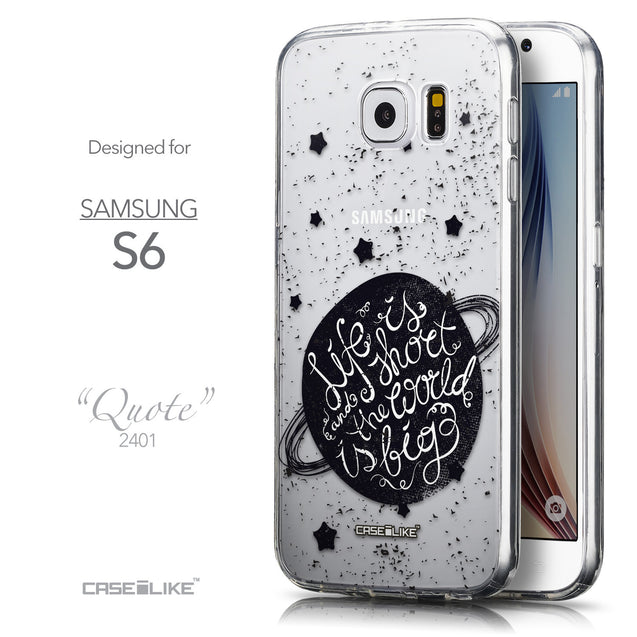 Front & Side View - CASEiLIKE Samsung Galaxy S6 back cover Quote 2401