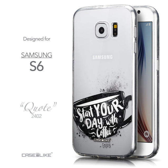 Front & Side View - CASEiLIKE Samsung Galaxy S6 back cover Quote 2402