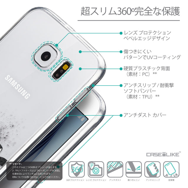 Details in Japanese - CASEiLIKE Samsung Galaxy S6 back cover Quote 2402