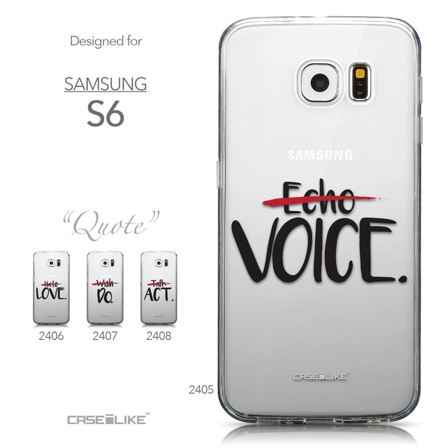 Collection - CASEiLIKE Samsung Galaxy S6 back cover Quote 2405