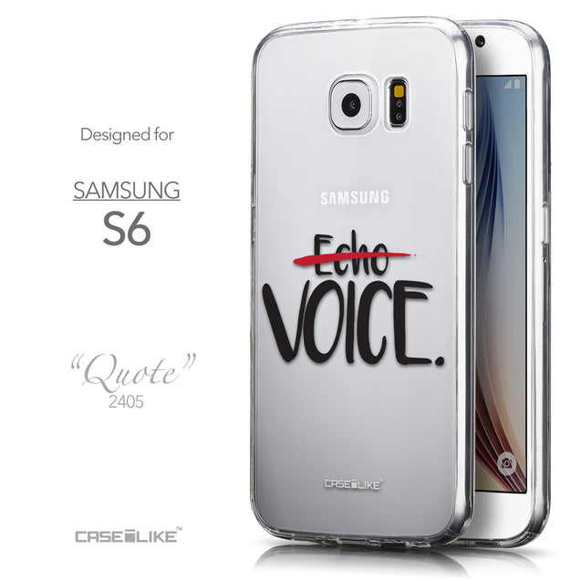 Front & Side View - CASEiLIKE Samsung Galaxy S6 back cover Quote 2405
