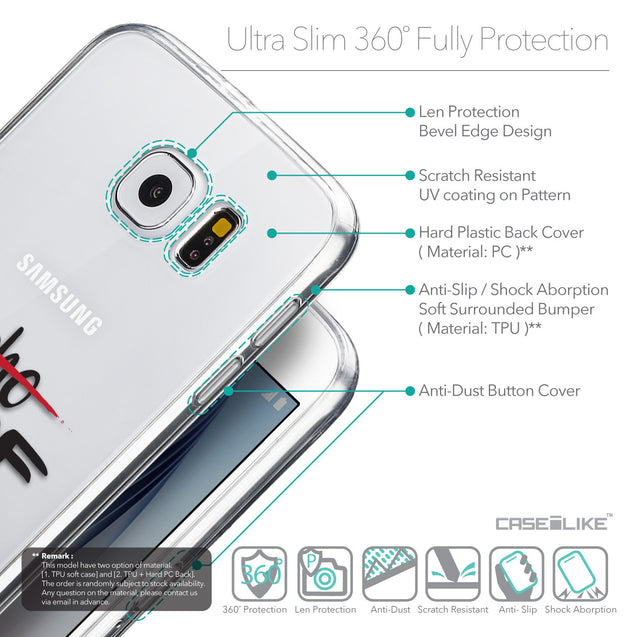 Details in English - CASEiLIKE Samsung Galaxy S6 back cover Quote 2405