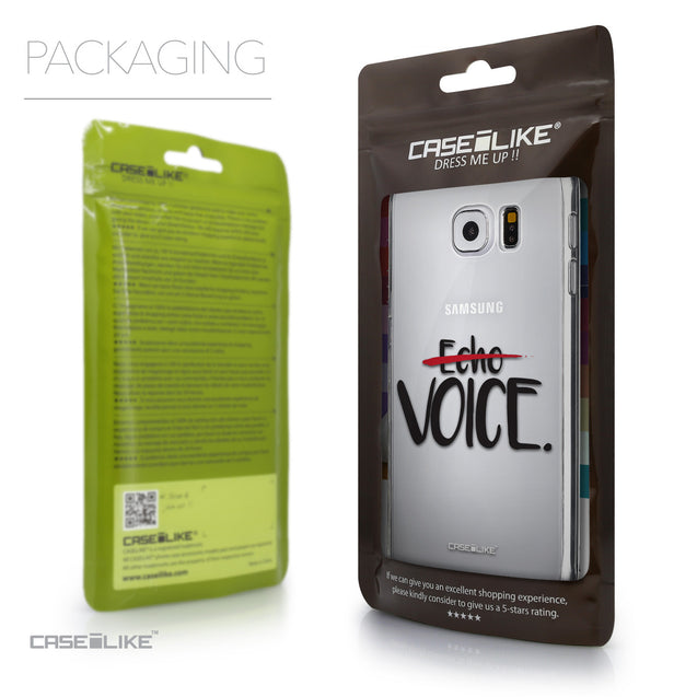 Packaging - CASEiLIKE Samsung Galaxy S6 back cover Quote 2405