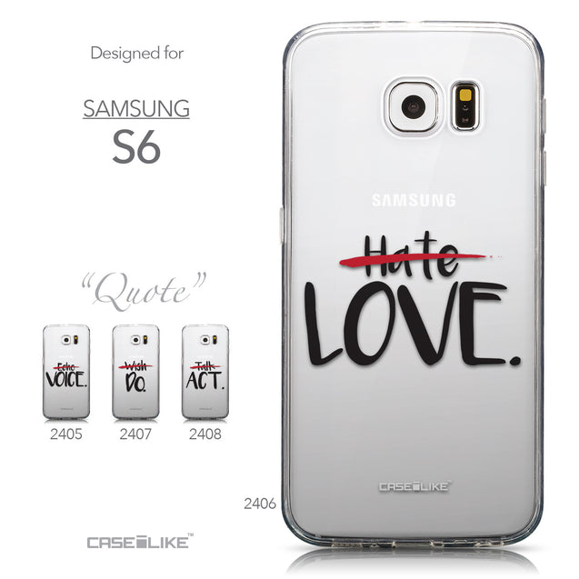 Collection - CASEiLIKE Samsung Galaxy S6 back cover Quote 2406