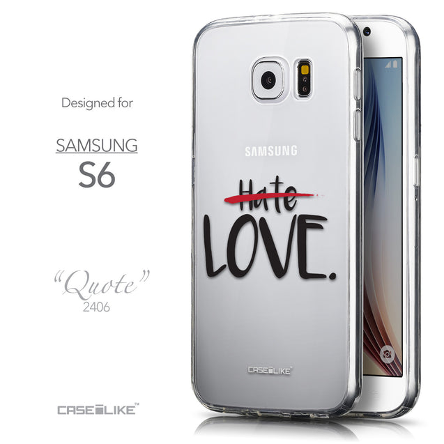 Front & Side View - CASEiLIKE Samsung Galaxy S6 back cover Quote 2406