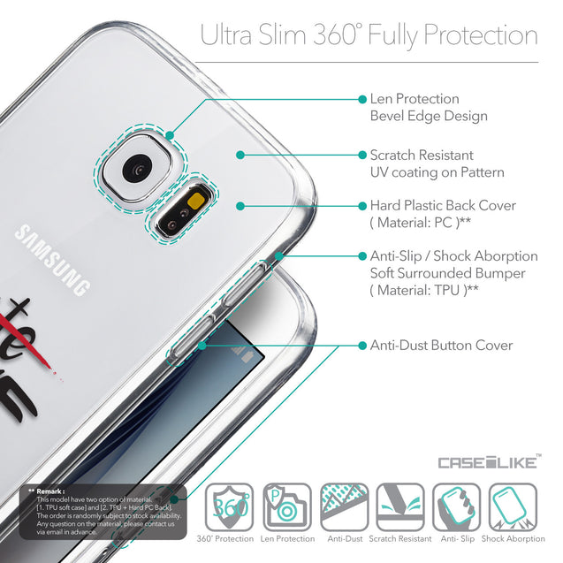 Details in English - CASEiLIKE Samsung Galaxy S6 back cover Quote 2406