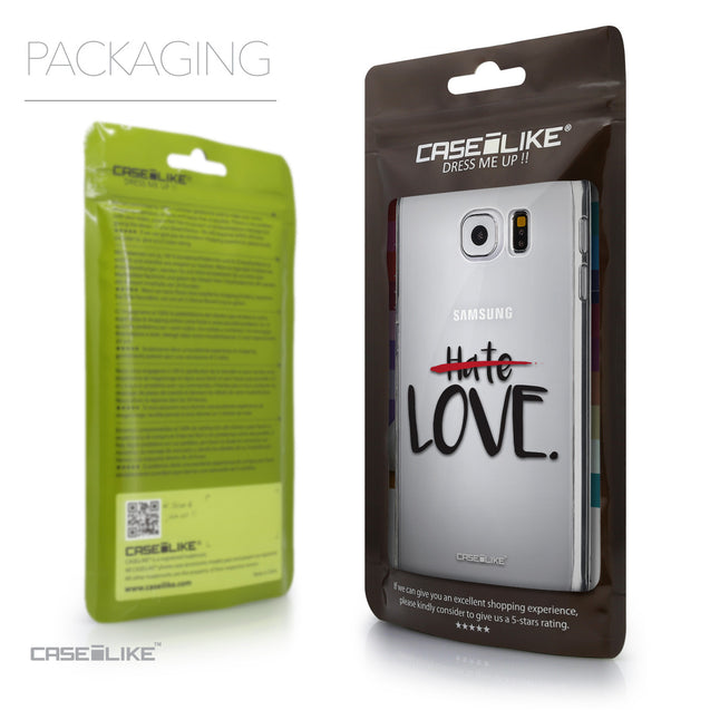 Packaging - CASEiLIKE Samsung Galaxy S6 back cover Quote 2406