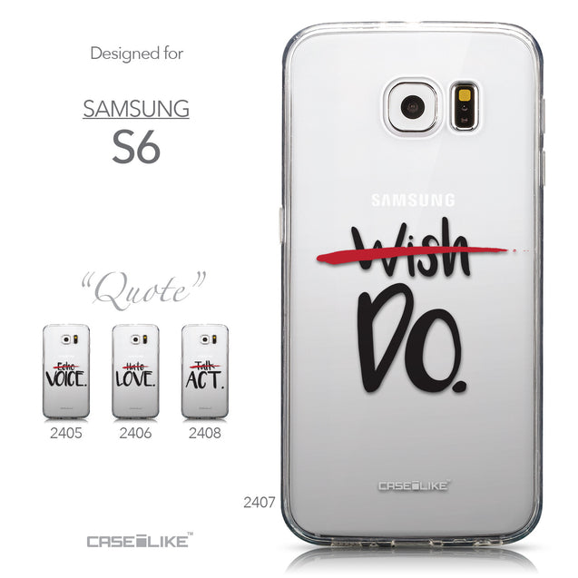 Collection - CASEiLIKE Samsung Galaxy S6 back cover Quote 2407