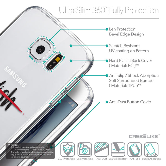 Details in English - CASEiLIKE Samsung Galaxy S6 back cover Quote 2407