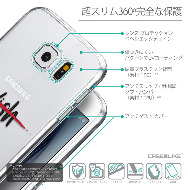Details in Japanese - CASEiLIKE Samsung Galaxy S6 back cover Quote 2407