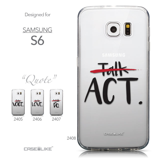 Collection - CASEiLIKE Samsung Galaxy S6 back cover Quote 2408