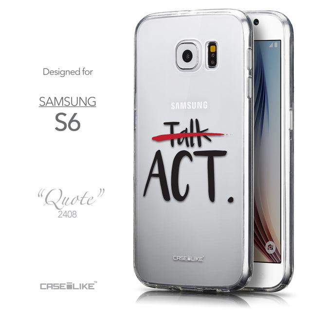 Front & Side View - CASEiLIKE Samsung Galaxy S6 back cover Quote 2408