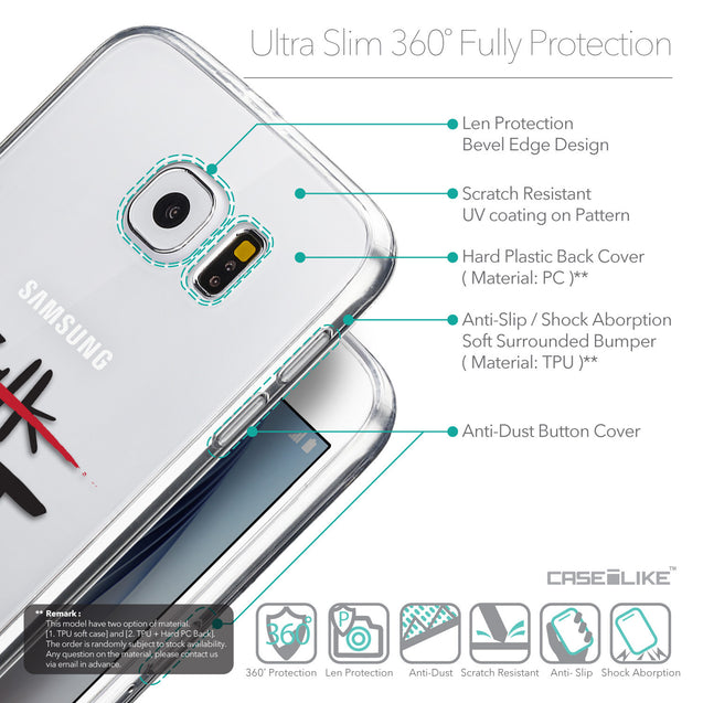 Details in English - CASEiLIKE Samsung Galaxy S6 back cover Quote 2408