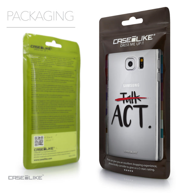 Packaging - CASEiLIKE Samsung Galaxy S6 back cover Quote 2408