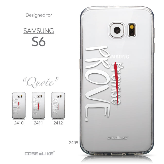 Collection - CASEiLIKE Samsung Galaxy S6 back cover Quote 2409