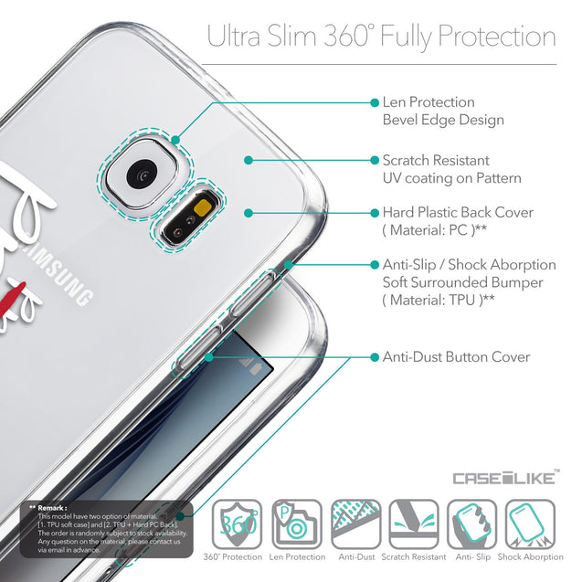 Details in English - CASEiLIKE Samsung Galaxy S6 back cover Quote 2409