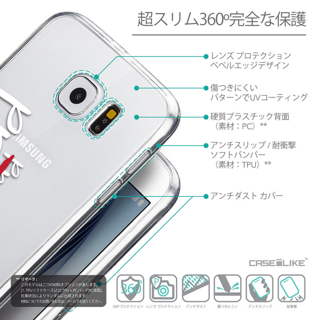 Details in Japanese - CASEiLIKE Samsung Galaxy S6 back cover Quote 2409