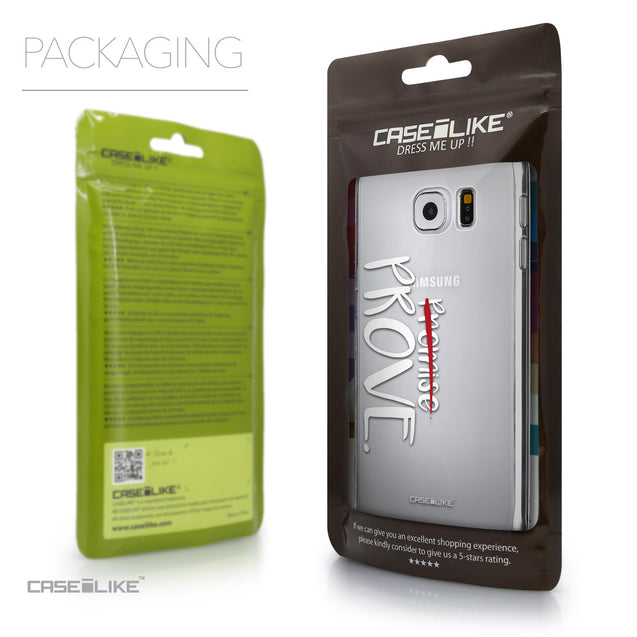 Packaging - CASEiLIKE Samsung Galaxy S6 back cover Quote 2409