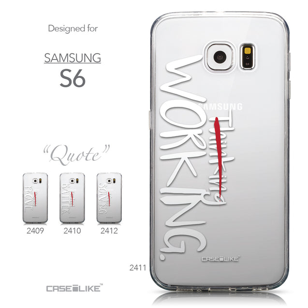 Collection - CASEiLIKE Samsung Galaxy S6 back cover Quote 2411