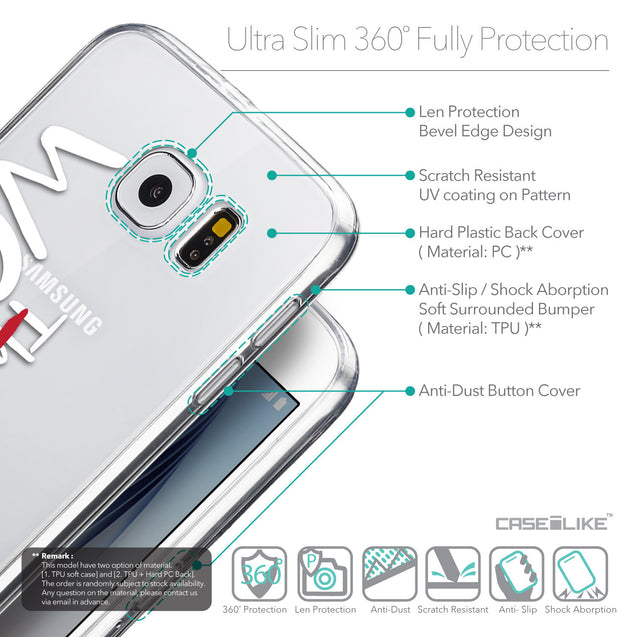 Details in English - CASEiLIKE Samsung Galaxy S6 back cover Quote 2411