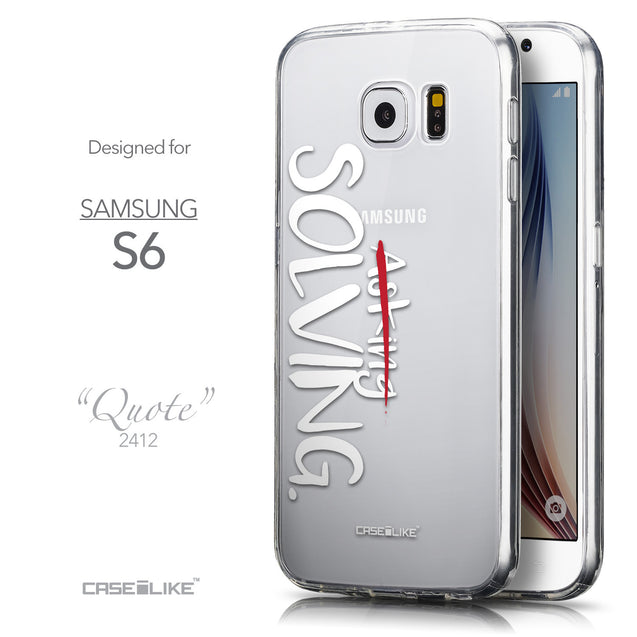 Front & Side View - CASEiLIKE Samsung Galaxy S6 back cover Quote 2412