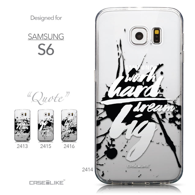 Collection - CASEiLIKE Samsung Galaxy S6 back cover Quote 2414