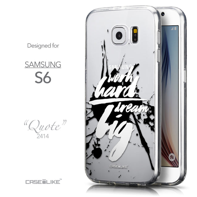 Front & Side View - CASEiLIKE Samsung Galaxy S6 back cover Quote 2414