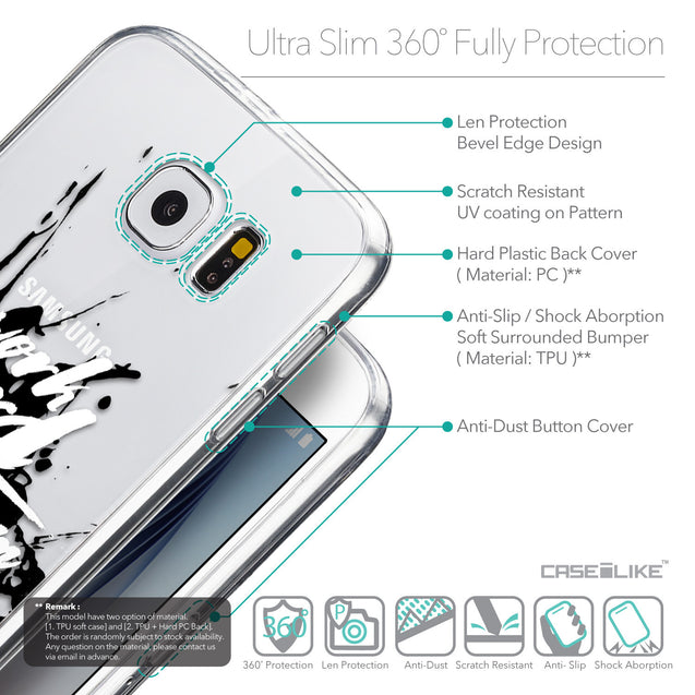 Details in English - CASEiLIKE Samsung Galaxy S6 back cover Quote 2414