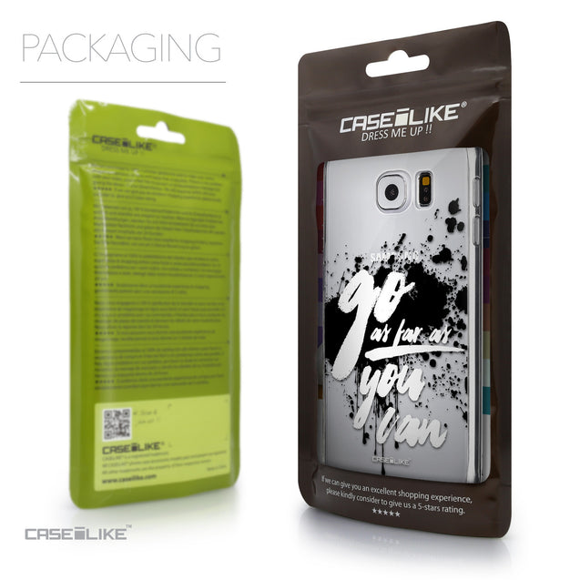Packaging - CASEiLIKE Samsung Galaxy S6 back cover Quote 2415