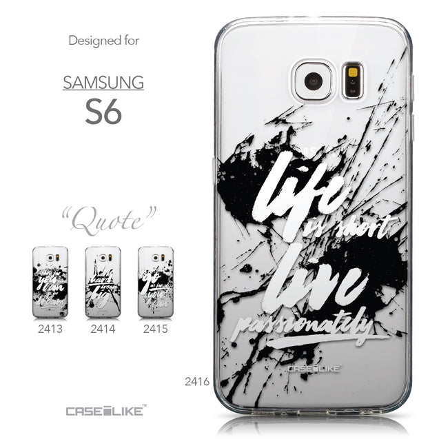 Collection - CASEiLIKE Samsung Galaxy S6 back cover Quote 2416