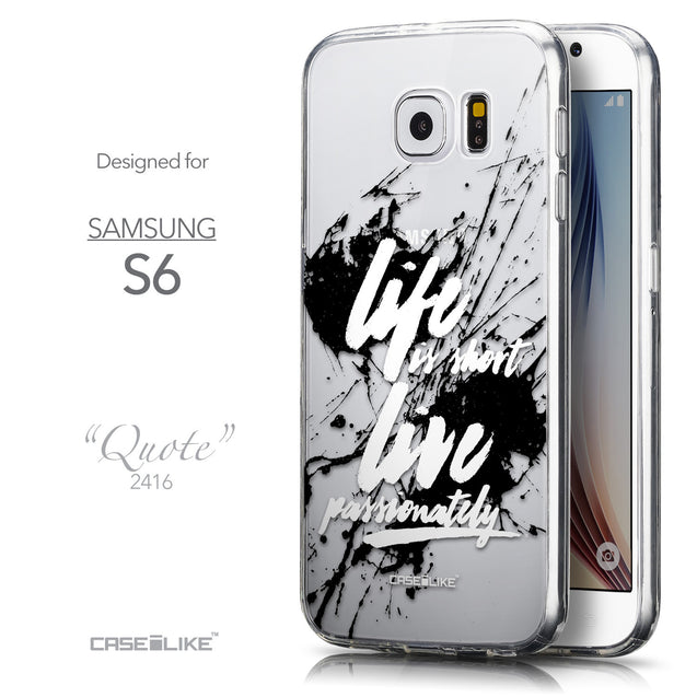 Front & Side View - CASEiLIKE Samsung Galaxy S6 back cover Quote 2416