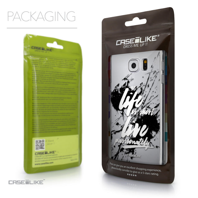 Packaging - CASEiLIKE Samsung Galaxy S6 back cover Quote 2416