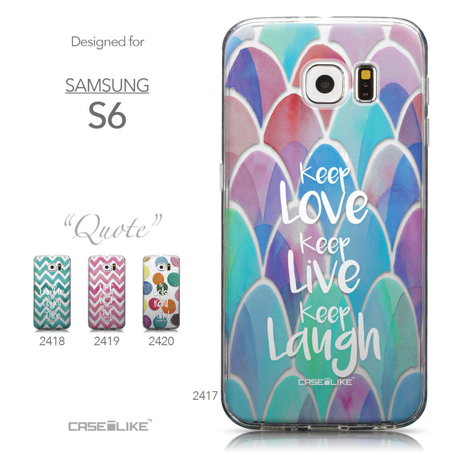 Collection - CASEiLIKE Samsung Galaxy S6 back cover Quote 2417