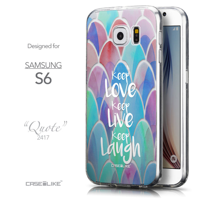 Front & Side View - CASEiLIKE Samsung Galaxy S6 back cover Quote 2417