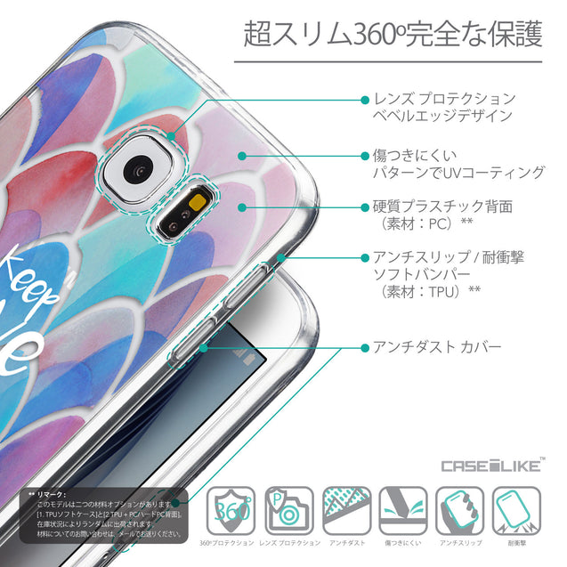 Details in Japanese - CASEiLIKE Samsung Galaxy S6 back cover Quote 2417