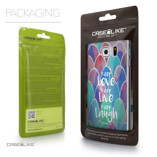 Packaging - CASEiLIKE Samsung Galaxy S6 back cover Quote 2417
