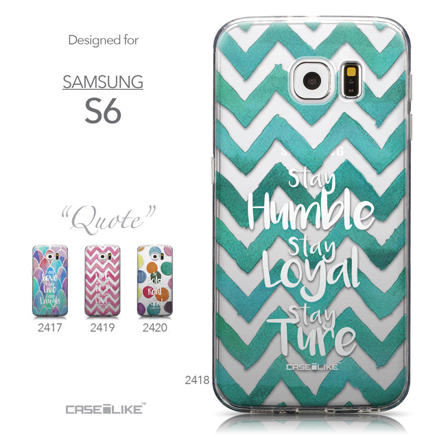 Collection - CASEiLIKE Samsung Galaxy S6 back cover Quote 2418