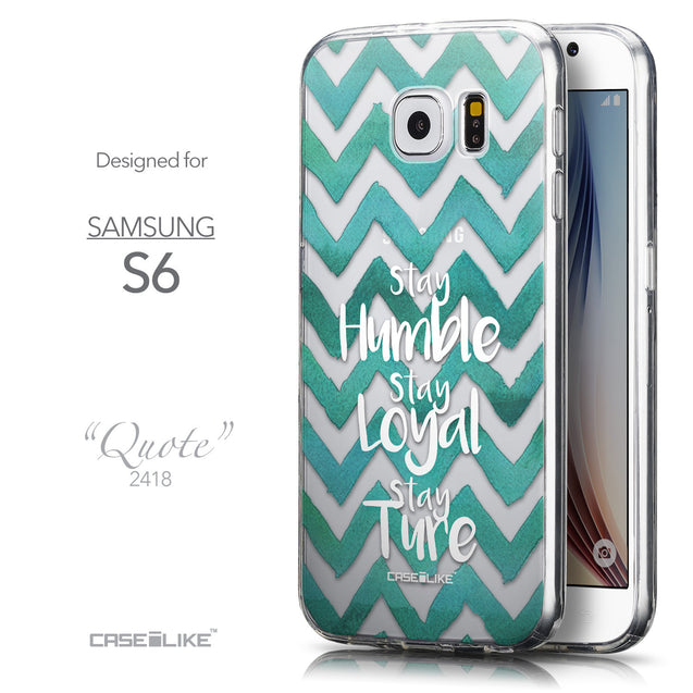 Front & Side View - CASEiLIKE Samsung Galaxy S6 back cover Quote 2418