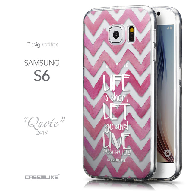Front & Side View - CASEiLIKE Samsung Galaxy S6 back cover Quote 2419