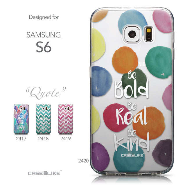 Collection - CASEiLIKE Samsung Galaxy S6 back cover Quote 2420