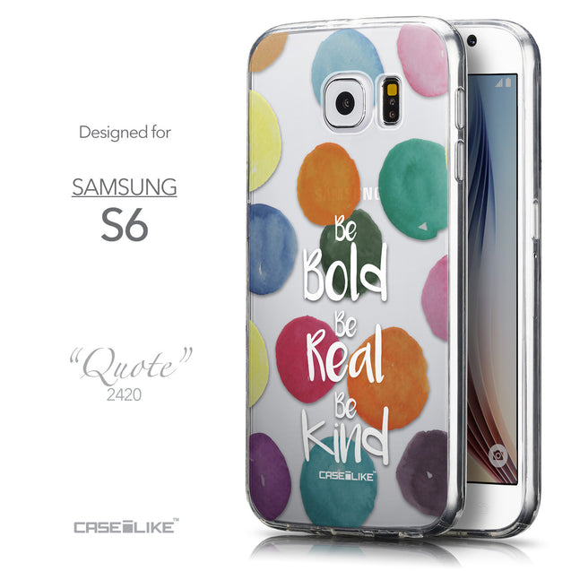 Front & Side View - CASEiLIKE Samsung Galaxy S6 back cover Quote 2420