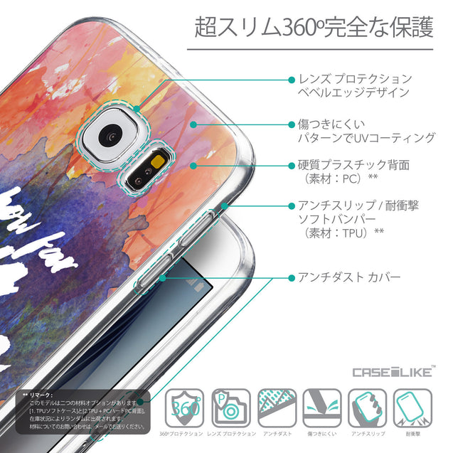 Details in Japanese - CASEiLIKE Samsung Galaxy S6 back cover Quote 2421