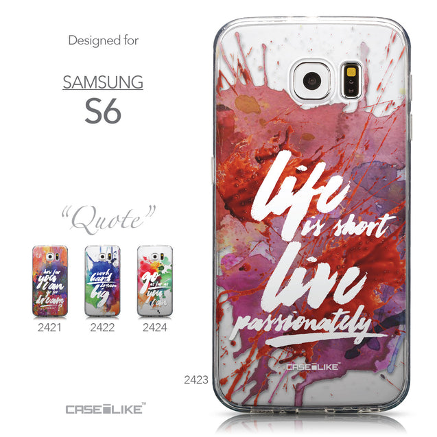 Collection - CASEiLIKE Samsung Galaxy S6 back cover Quote 2423